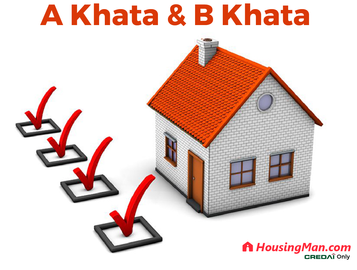 difference between a khata and b khata what is a khata