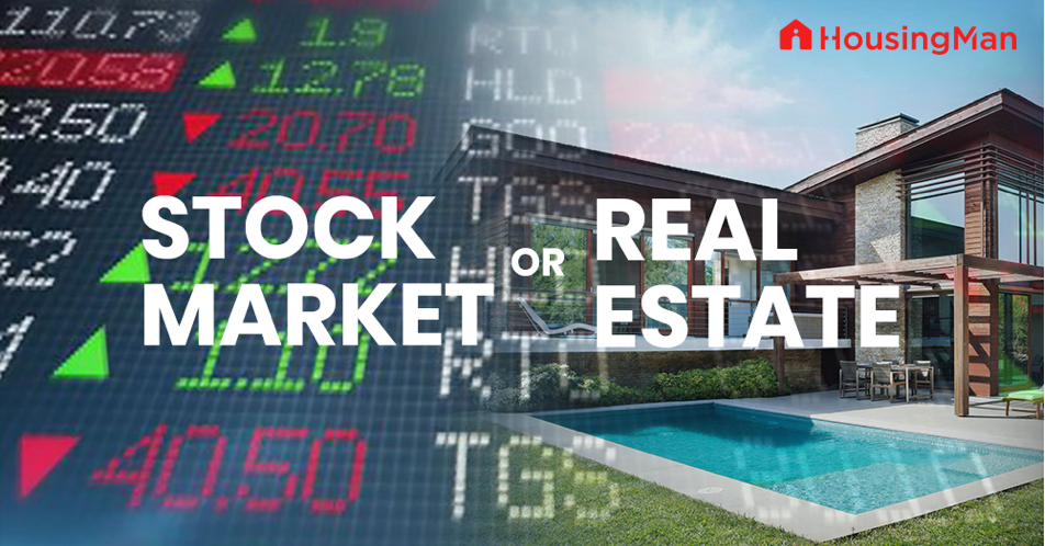 Real Estate Or Stocks Which Is A Better Investment Property Insights Property Buying Selling
